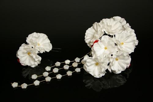 振袖にあう髪飾り「戀華(IT027)」白